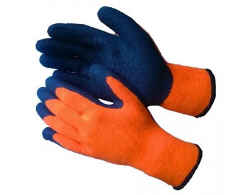 Перчатки утепленные акриловые с текстурированным латексом