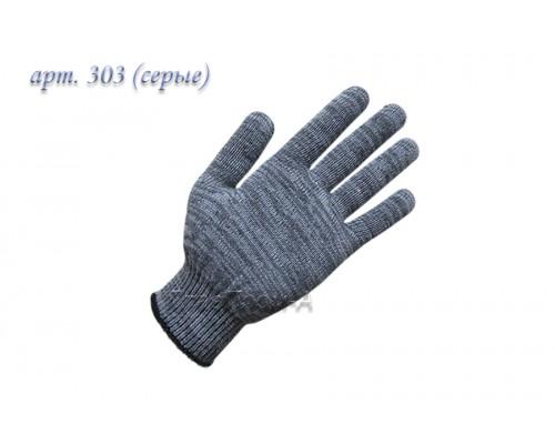 Перчатки рабочие х/б 10 класс (серые)