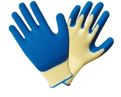 Перчатки трикотажные с текстурированным латексным покрытием 13 класс (аналог ТОРРО)