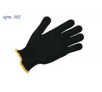 Перчатки рабочие х/б 7 класс чёрные