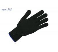 Перчатки рабочие х/б 7,5 класс чёрные