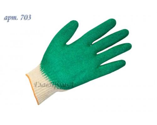 Перчатки х/б одинарный облив латекс 13 класс