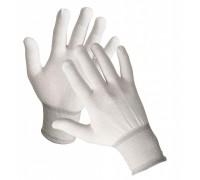 Перчатки нейлоновые 13 класс белые без покрытия
