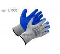 Перчатки х/б с текстурированным латексным покрытием 10 класс