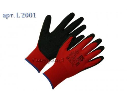 Нейлоновые перчатки с латексным (текстурированным) покрытием 13 класс