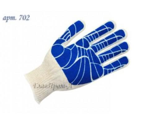 Перчатки х/б обливной наладонник 10 класс