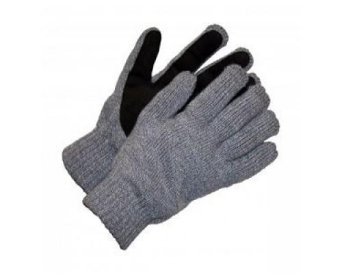 Зимние перчатки со спилковым наладонником