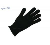 Перчатки вязанные трикотажные полушерстяные 7 класс, арт 700