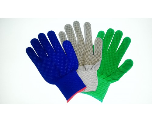 Перчатки нейлоновые 13 класс с ПВХ