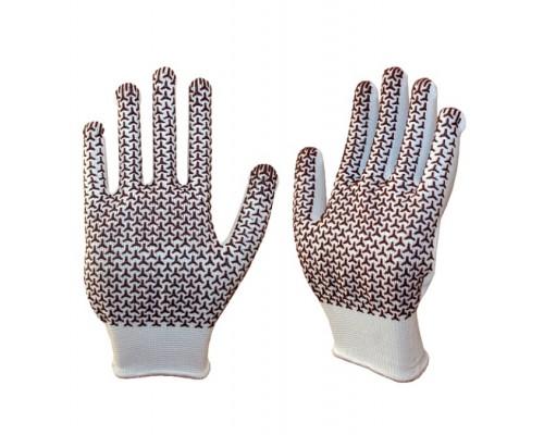 Перчатки трикотажные нейлоновые с ПВХ 13 класс